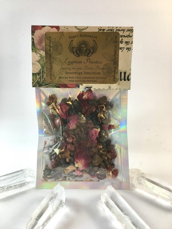 Egyptian Priestess: Musk rose, oil soaked benzoin
